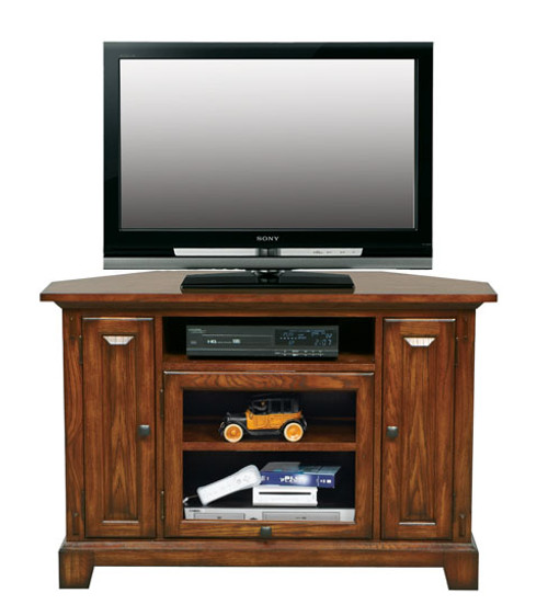 "Medium Oak 47"" Corner TV stand"