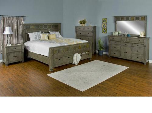 Scottsdale bedroom in Cadet Grey finish