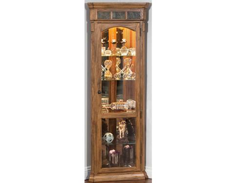 2513RO Sedona Corner Curio - Furniture - Living Room - Curio Cabinets - Vintage Oak