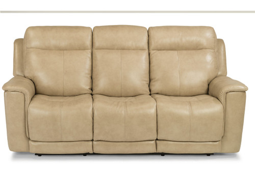 Miller Leather Reclining Sofa With Power Headrest & Power Lumbar Two leather options