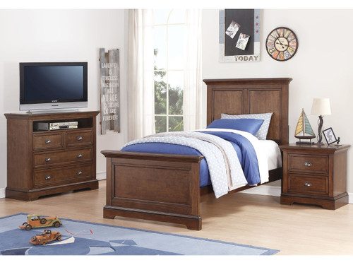 Tamarack Twin Bed in Hazelnut finish