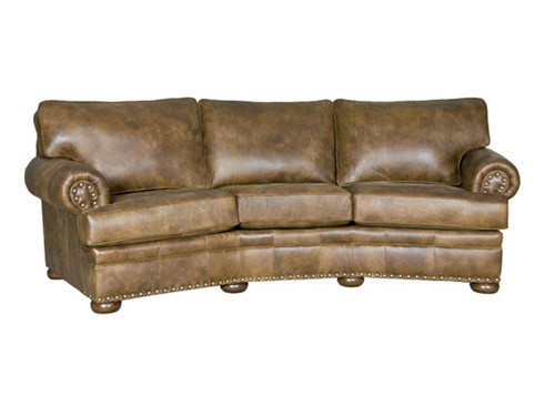 All Leather conversation sofa