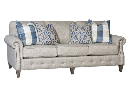 Tufted base traditional sofa in fabric