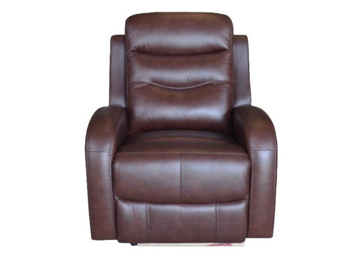 Milano Power Recliner made of Genuine Leather in chocolate or Gray color