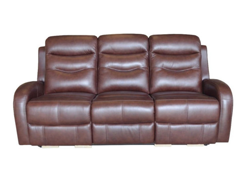 Milano Power Dual Reclining Sofa made of Genuine Leather in chocolate or Gray color