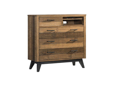 Urban Rustic Media Chest with dvd storage shelf
