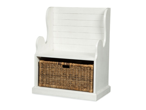 White Hall Seat with Basket