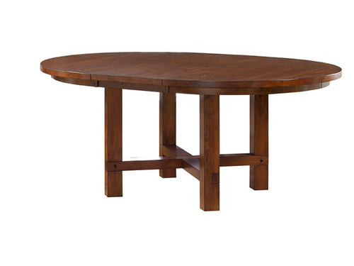 """54"""" Round Star Valley Table (shown with 18"""" leaf)"""