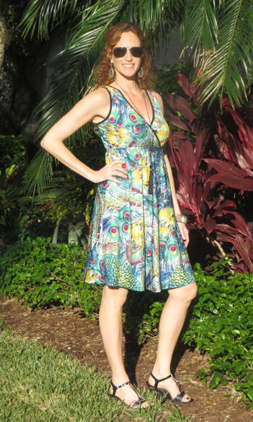 Dream Dance By Line Art Inc : Blooming mango short wrap dress dream dance by line art