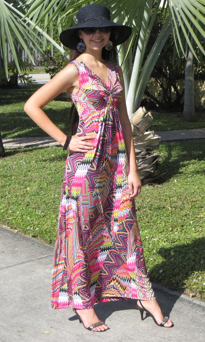Patchwork Long Twist Dress