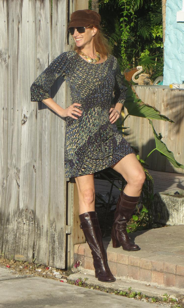 Moss & Plum 3/4 Sleeve Dress