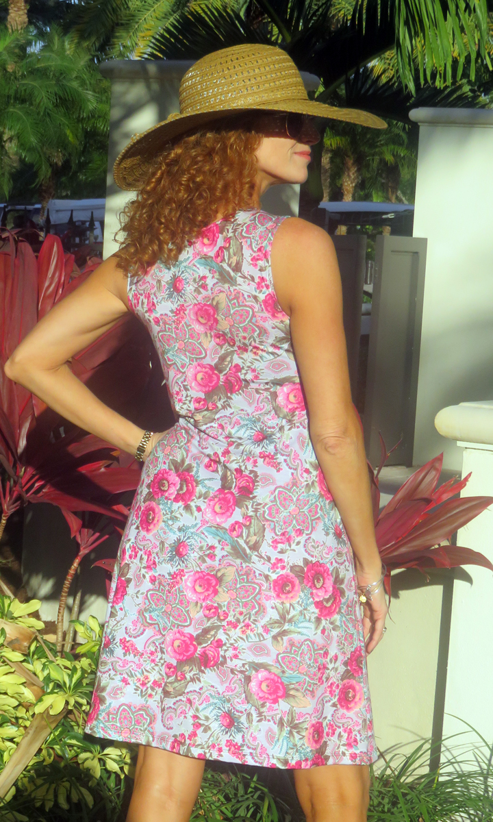 Country Floral Short Twist Dress