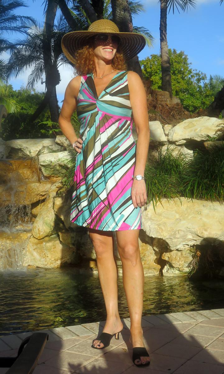 Marino Short Twist Dress-100% SILK