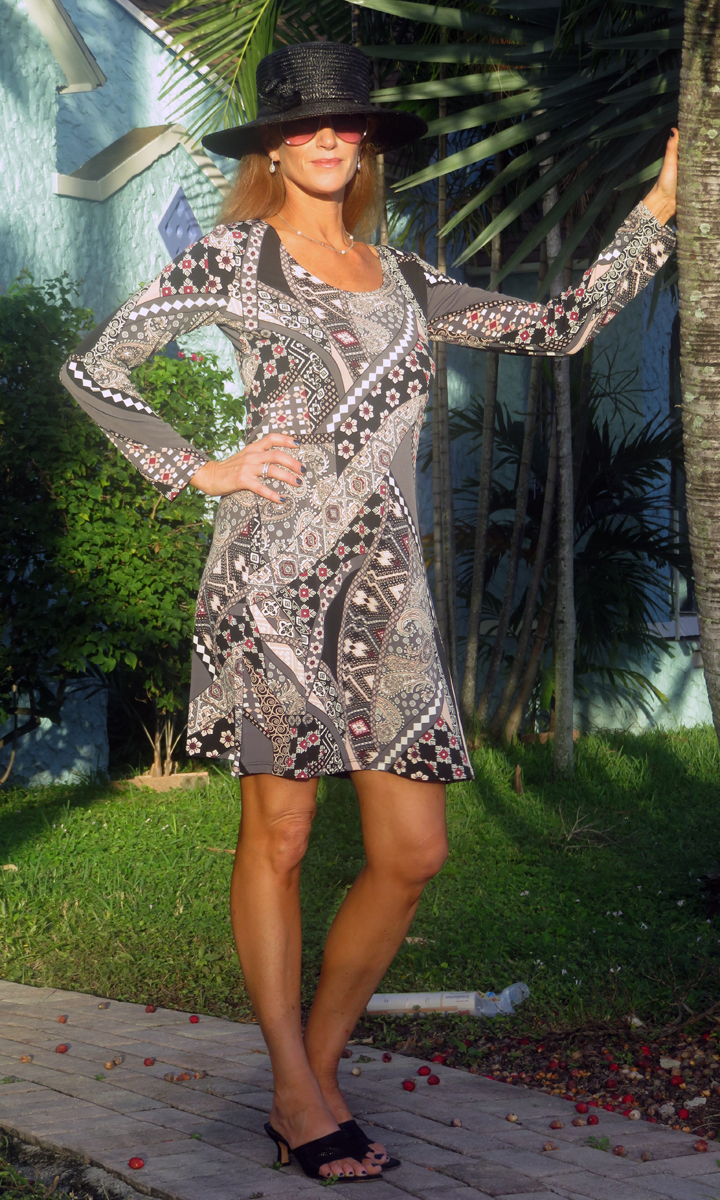Blush & Black Paisley Trapeze Dress