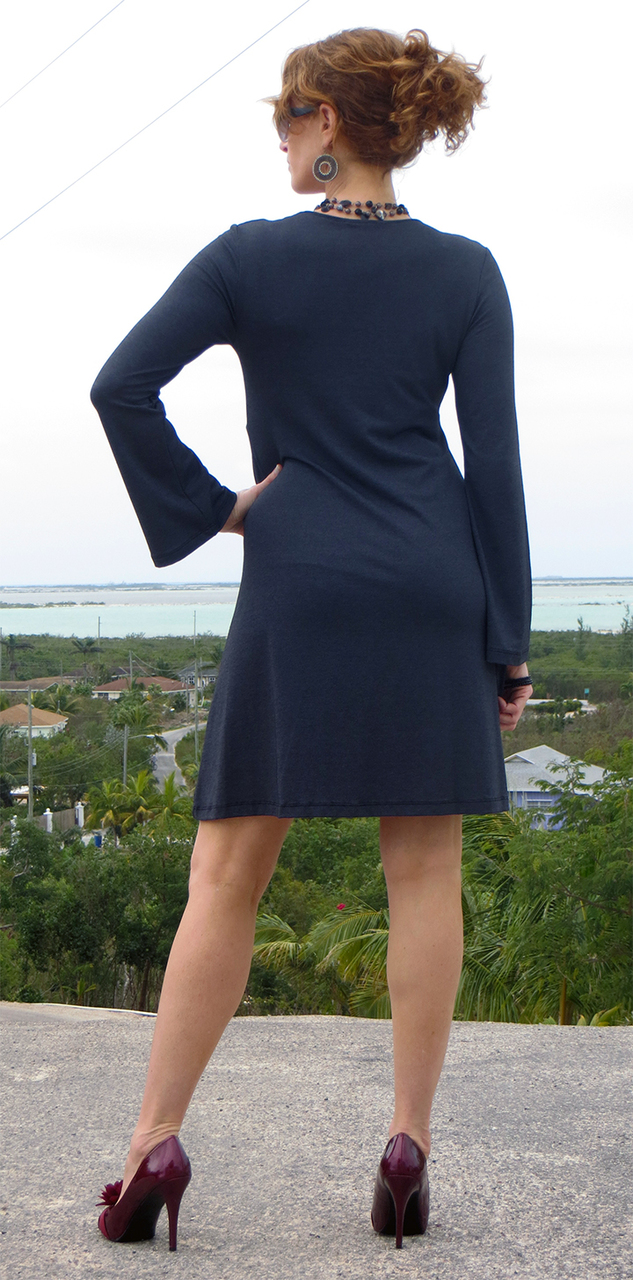 Denim Bell Sleeve Dress-ONLY SMALL AVAILABLE!!