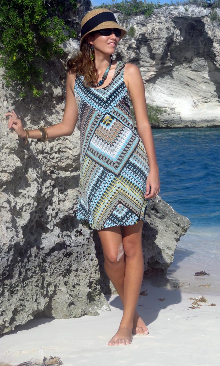 Aztec Quartz Tank Dress-ONLY X-SMALL LEFT!!
