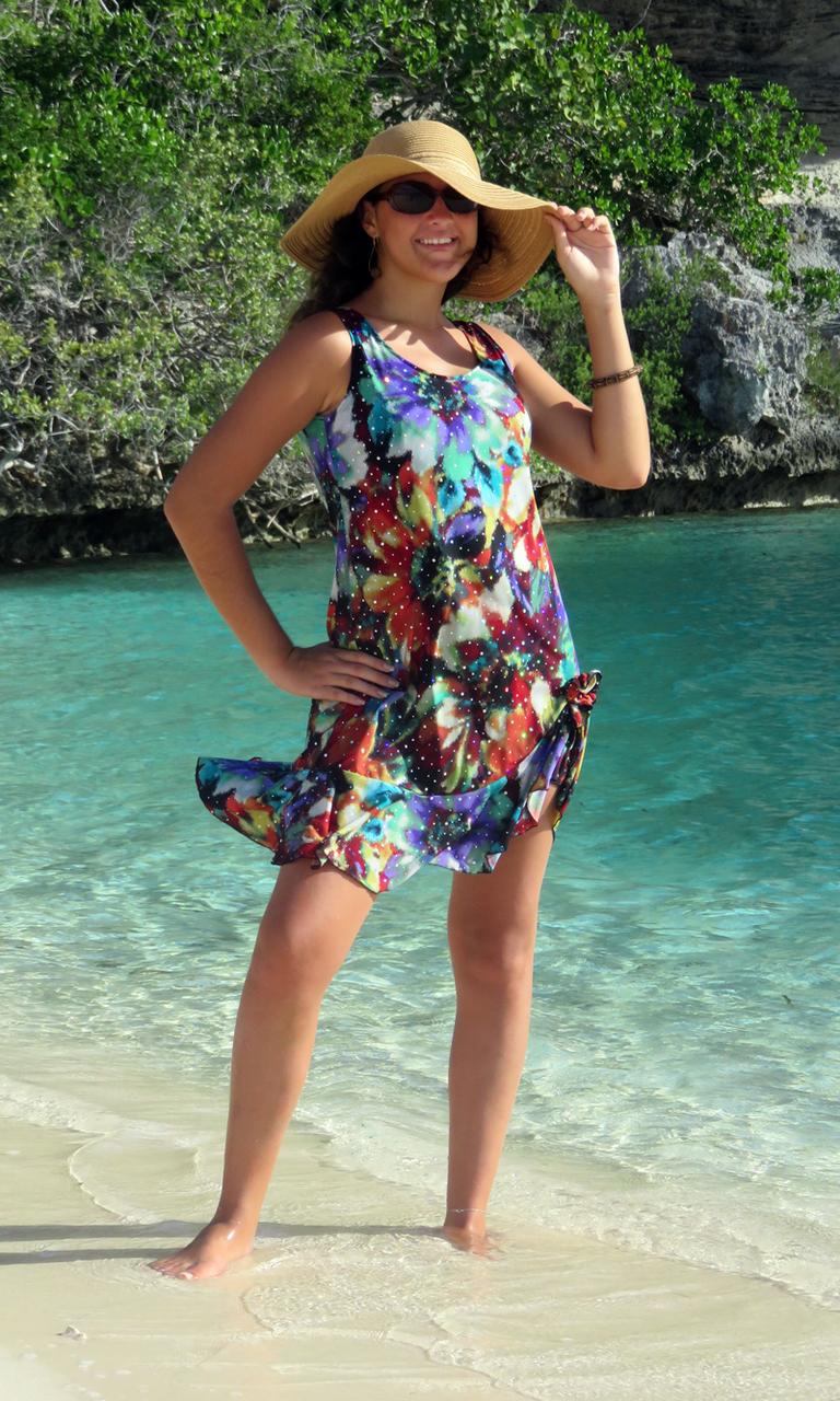 Floral Sparkle Flip Dress