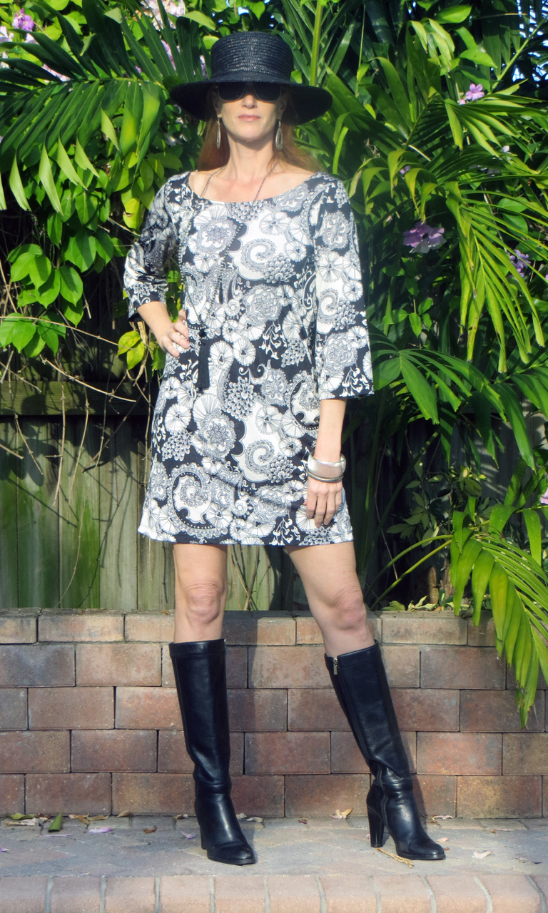 Parasols 3/4 Sleeve Dress