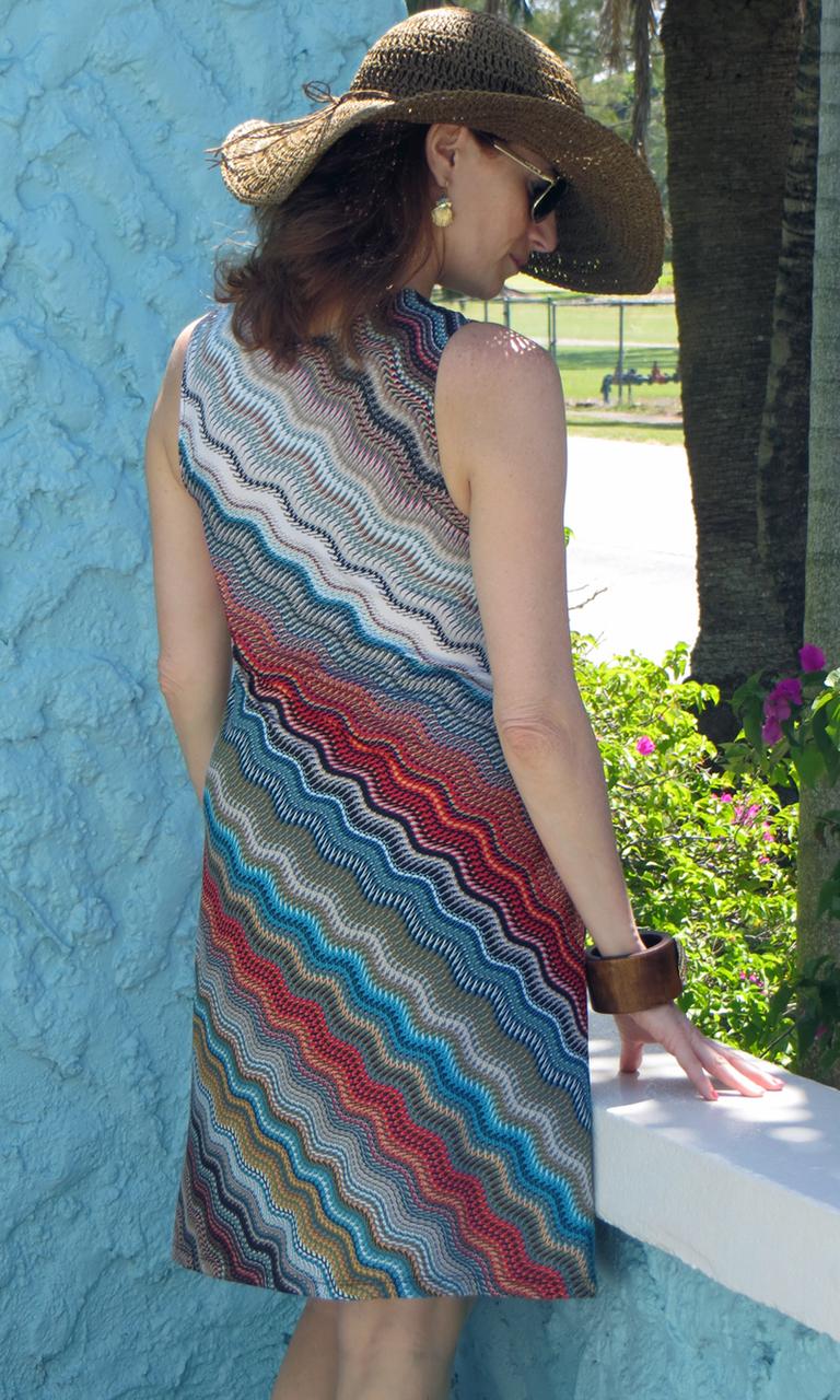 Wavy Herringbone Short Twist Dress