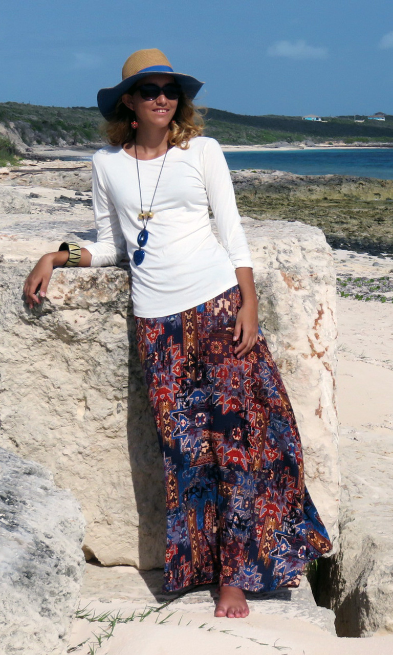 New Tapestry Long Convertible Skirt