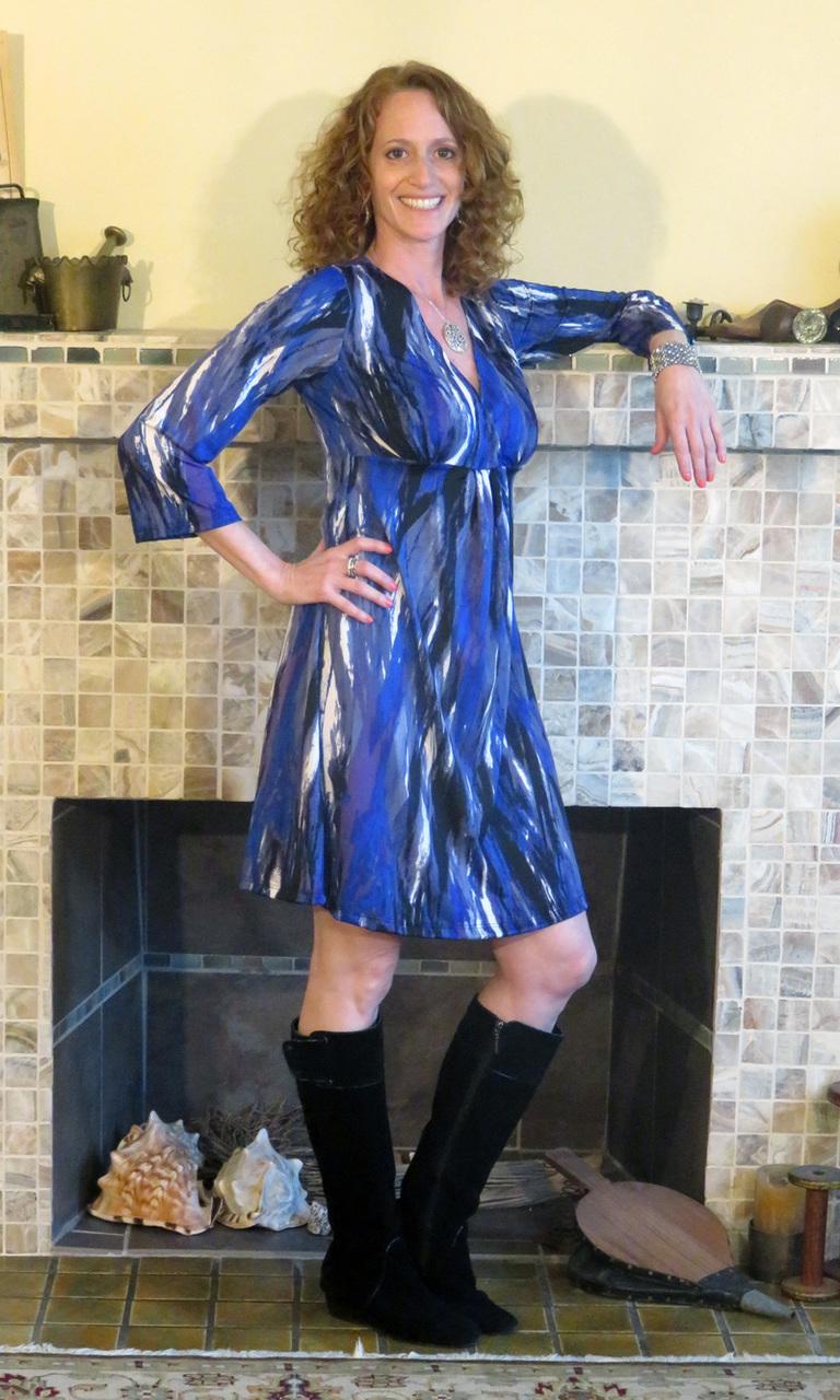 Purple Passion V-Neck Dress
