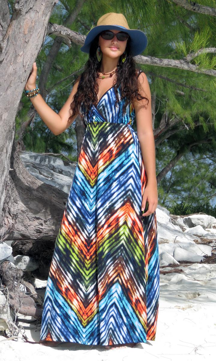Jazzy Long Wrap Dress