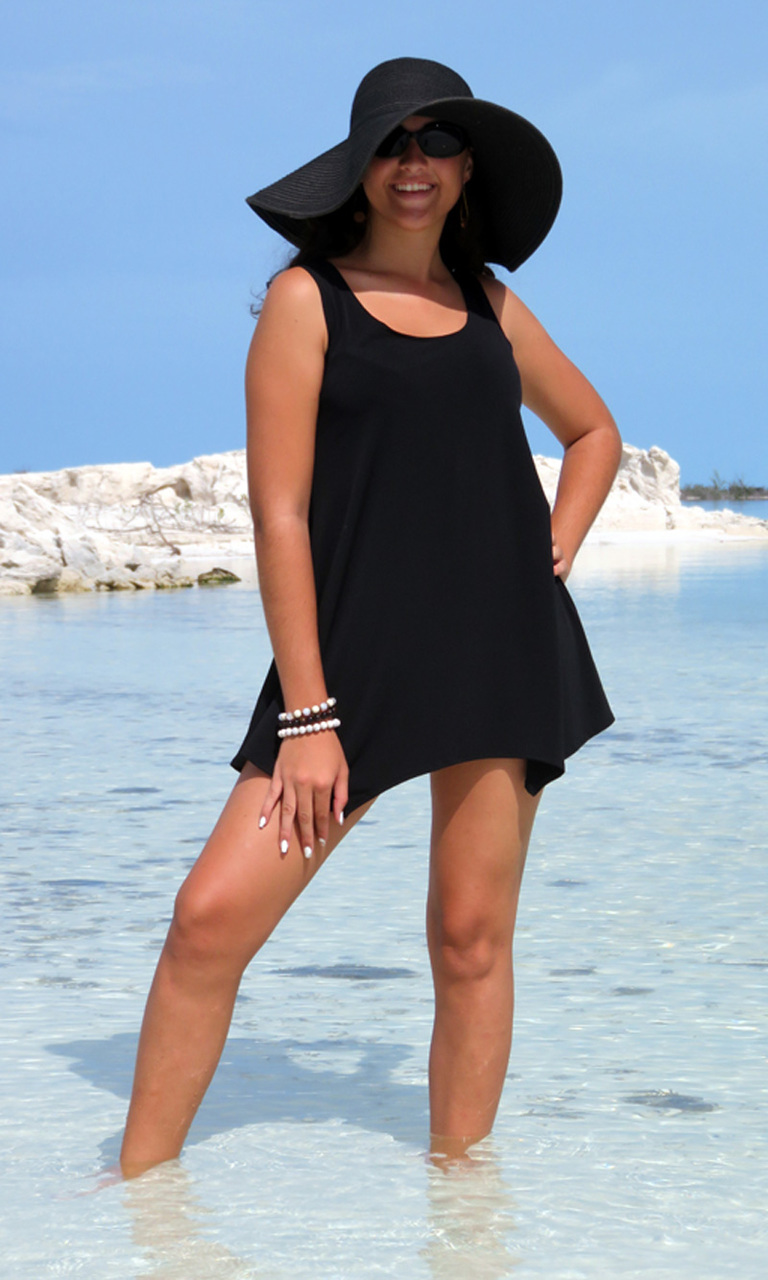 Solid Black Lindy Tank Tunic
