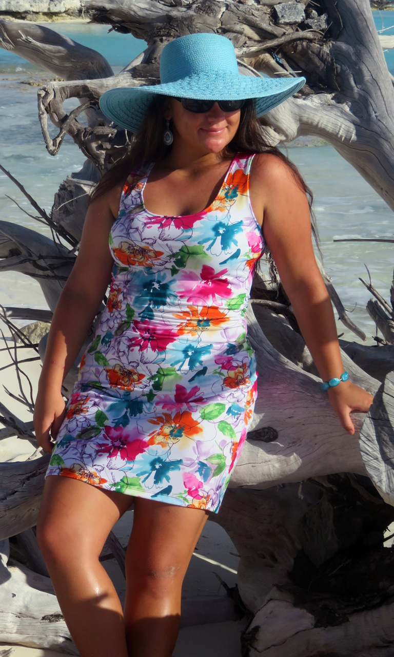 Colorful Daisy Tank Dress