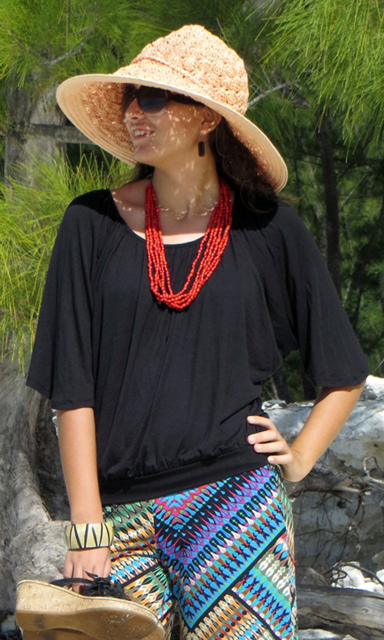 Solid Jersey Dolman Top