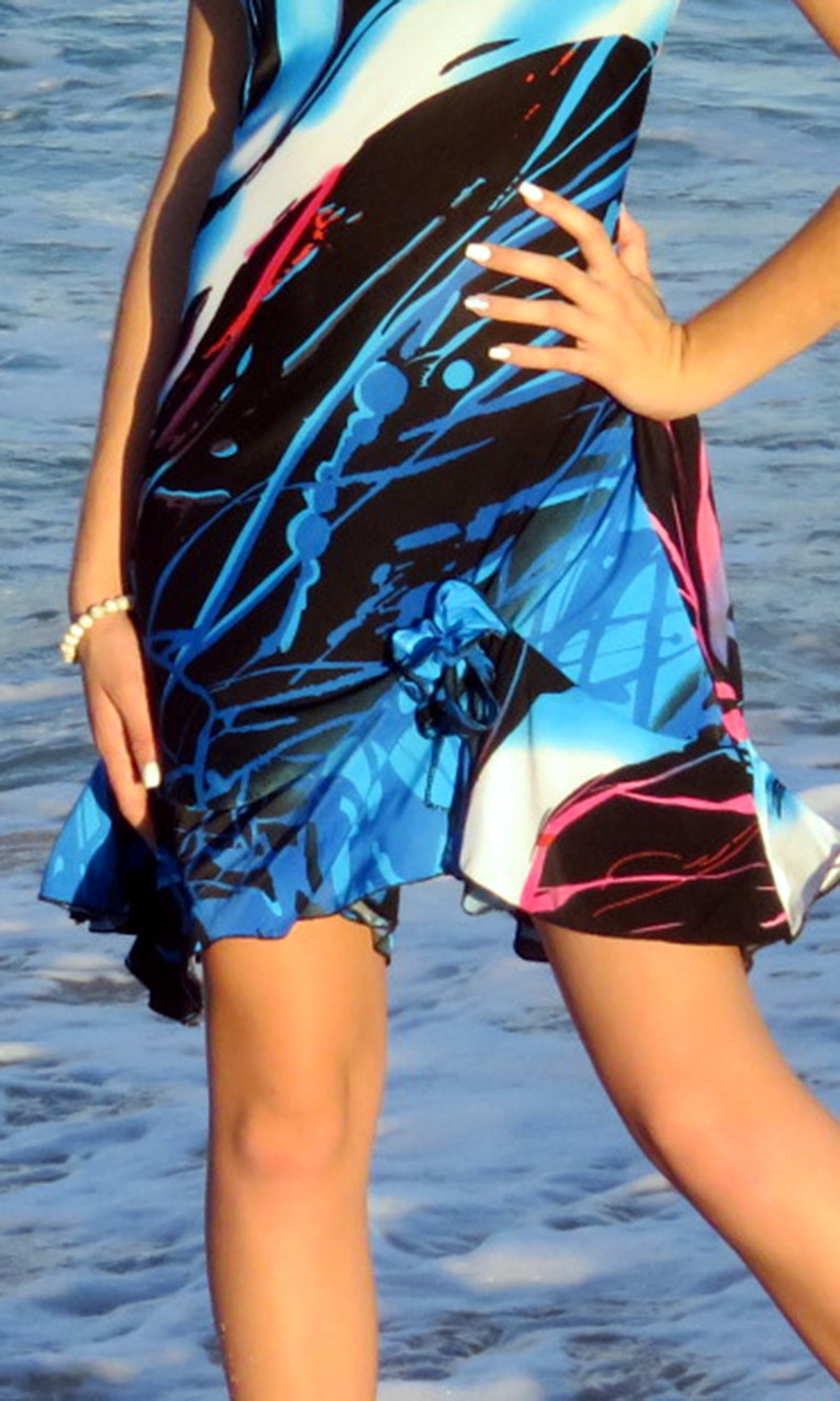 Miami Swirls Flip Dress