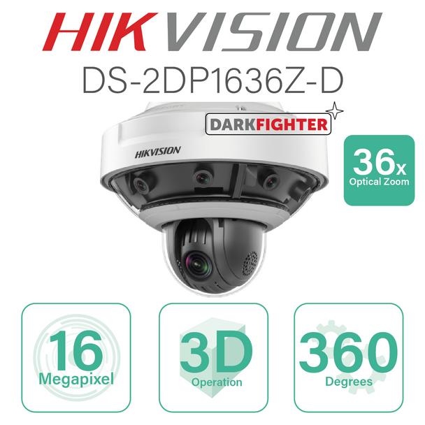 Hikvision Fisheye PanoVu+ IP - 36x Optical zoom DS-2DP1636Z-D