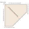 Top-Down diagram of corner bench measurements