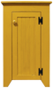 Shown in Old Mustard with a beadboard door
