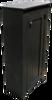 Shown in Solid Black with a beadboard door