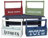 Shown in Old Red, Old Sage, Old Coggate White, and Old Blue with optional lettering from our 7x18 signs