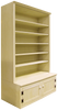 "Shown in Old Cream with 15"" deep shelves"