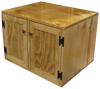 Shown in Butternut Stain & Poly with optional doors