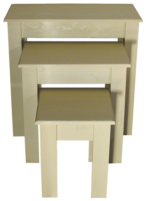 All three tables shown in Old Cream