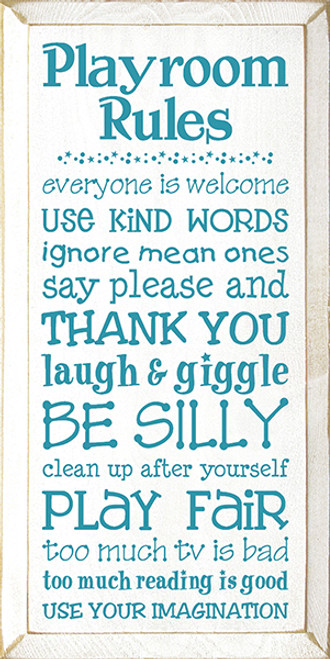 playroom rules everyone is welcome use kind words ignore mean
