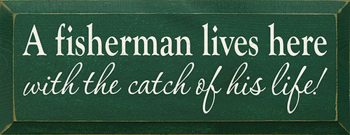 Shown In Old Green with Cream lettering