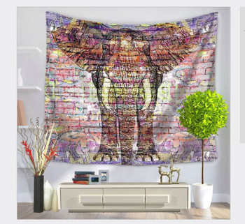 Mandala Elephant Tapestry - Large 150 x 130 cm Wall Hanging For Dorm Room, Bedroom, Home Decor