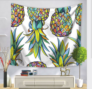 Pineapple - Upside Down - Multiple - Tapestry - Large 150 x 130 cm
