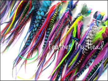 Premium Whiting Feather Hair Extension With Fluff