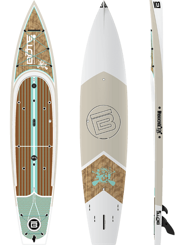 Bote Rackham Classic Fishing Paddle Board close up photo