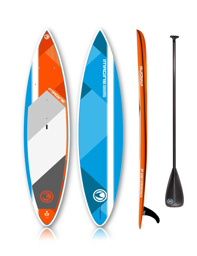 Imagine crossover stand up paddle board with carbon paddle