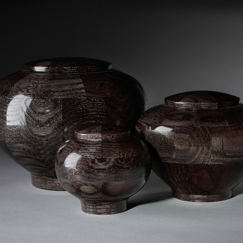 Precious Jewel Wooden Pet Urns in Topaz. Handmade wooden pet urns available in 3 different sizes.