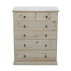 BOOKEND DELUXE 6 DRAWER TOP SPLIT TALLBOY (CSA316) - ASSORTED COLORS