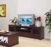 JAMES TV UNIT WITH 2 DOORS AND 2 DRAWERS - 2000(W) - (MOUNTAIN ASH) PALE BROWN