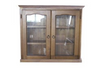 LIBRARY 2 DOOR DISPLAY CABINET (Z-1) - 900(H) - BALTIC(#215) OR WALNUT(#219)