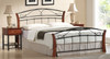 CHESTER (FD) DOUBLE OR QUEEN 3 PIECE BEDSIDE BEDROOM SUITE - ANTIQUE OAK / BLACK